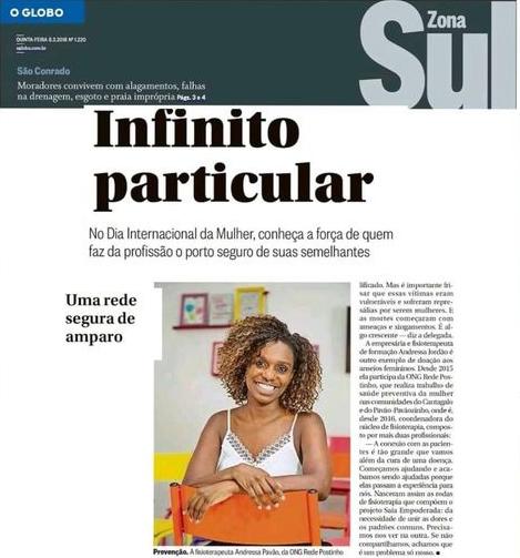 Andressa Jordão no O Globo